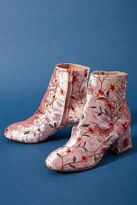 Chelsea Crew Embroidered Velvet Boots