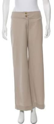 Armani Collezioni Mid-Rise Wide-Leg Pants Tan Mid-Rise Wide-Leg Pants
