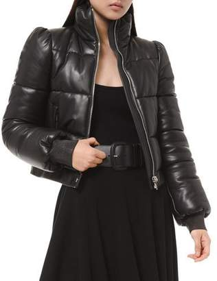 Michael Kors Quilted Leather Puffer Jacket