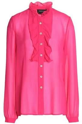 Vanessa Seward Ruffled Silk-Chiffon Shirt
