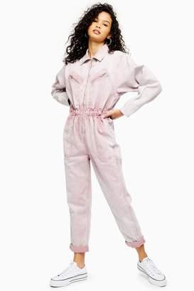 Topshop Womens Lilac Boiler Suit - Lilac