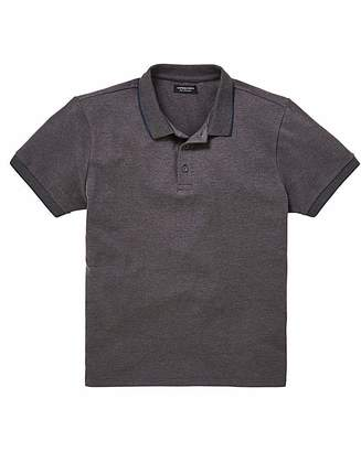Jacamo Capsule Charc Stretch Tipped Polo L