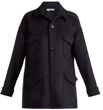 Katharine Hamnett London - Oversized Wool Jacket - Womens - Navy