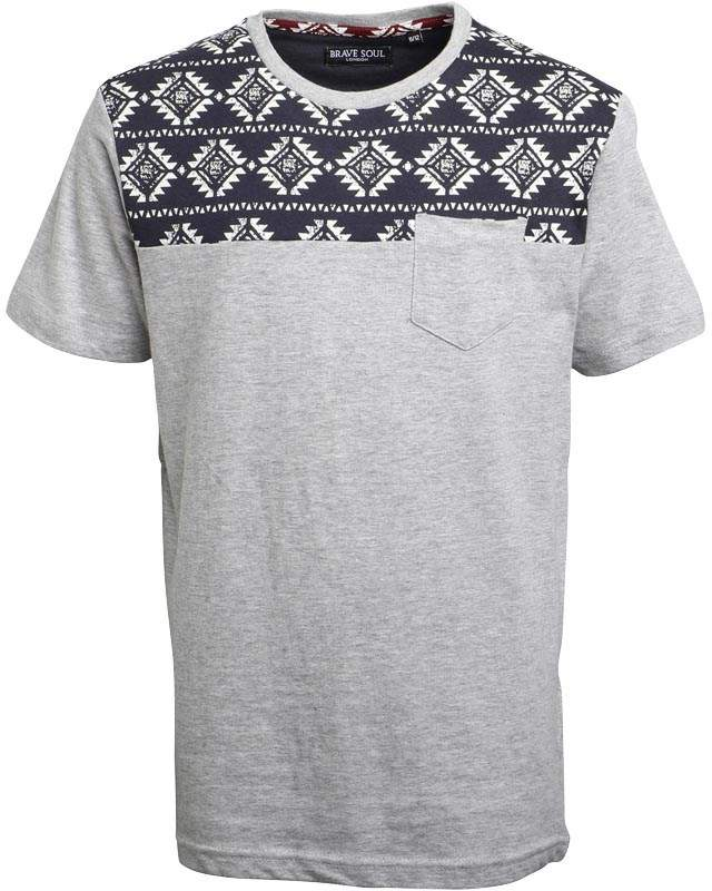 Jungen Davon Aztec T-Shirt Graumeliert