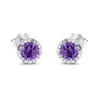 Cosanuova - Martini Glass Amethyst Earrings