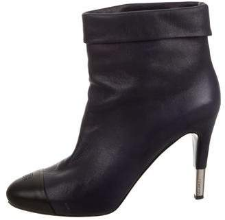 Chanel Cap-Toe CC Ankle Boots