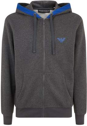 Emporio Armani Lounge Zip Through Hoodie