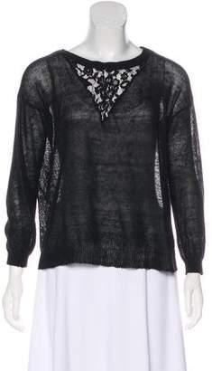 Haute Hippie Rib-Knit Trim Knit Sweater