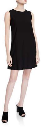 Eileen Fisher Lightweight Crepe Sleeveless Shift Dress