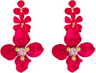 Fragments for Neiman Marcus Triple Flower Drop Earrings
