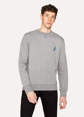 Paul Smith Men's Grey Cotton Embroidered 'Dino' Sweatshirt
