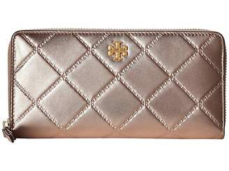Tory Burch Georgia Metallic Zip Continental Wallet