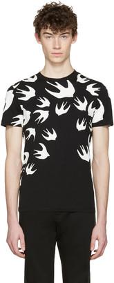 McQ Alexander McQueen Black Swallows T-Shirt $185 thestylecure.com