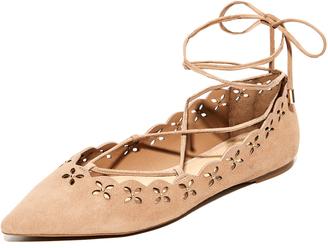 MICHAEL Michael Kors Thalia Lace Up Flats $125 thestylecure.com
