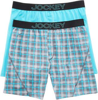 Jockey Men 2-Pack Knit No Bunch Boxer