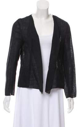 Chanel Wool Open Front Cardigan