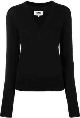 MM6 MAISON MARGIELA V-neck jumper