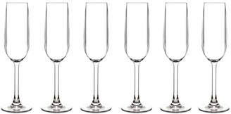 BarLuxe BPA-Free Champagne Flutes (Set of 6)