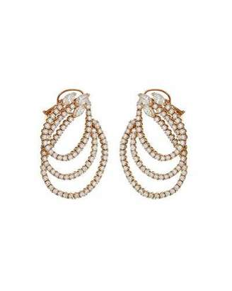 ZYDO Unique 18k Rose Gold Diamond Loop Earrings