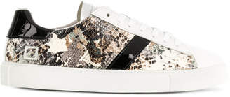 D.A.T.E python camouflage low top sneakers