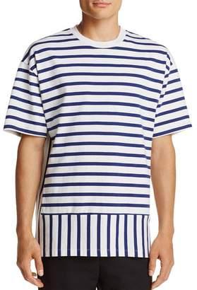 Public School Striped Crewneck Short Sleeve Tee