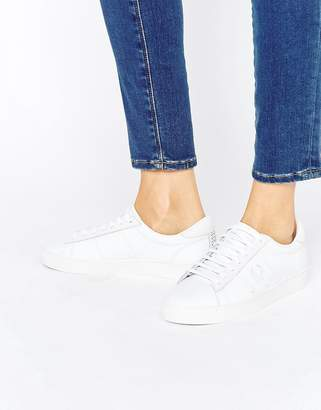 Fred Perry White Spencer Leather Sneakers