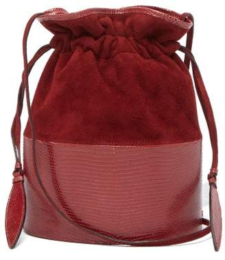 305bd6a8acd2 Hunting Season - Lola Suede And Lizard Skin Shoulder Bag - Womens - Red
