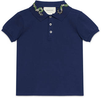 Children's cotton polo with snake $245 thestylecure.com