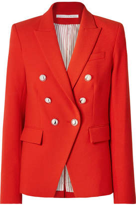 Veronica Beard Miller Dickey Double-breasted Cady Jacket - Red