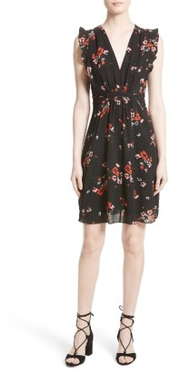 Women's Rebecca Taylor Marguerite Floral Stretch Silk Dress $350 thestylecure.com