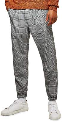 Topman Tapered Fit Check Jogger Pants