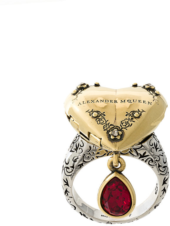 Alexander McQueenAlexander McQueen heart locket ring