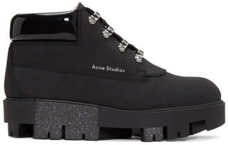 Acne Studios Black Tinne Hiking Boots