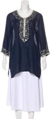 Calypso Embellished Long Sleeve Tunic