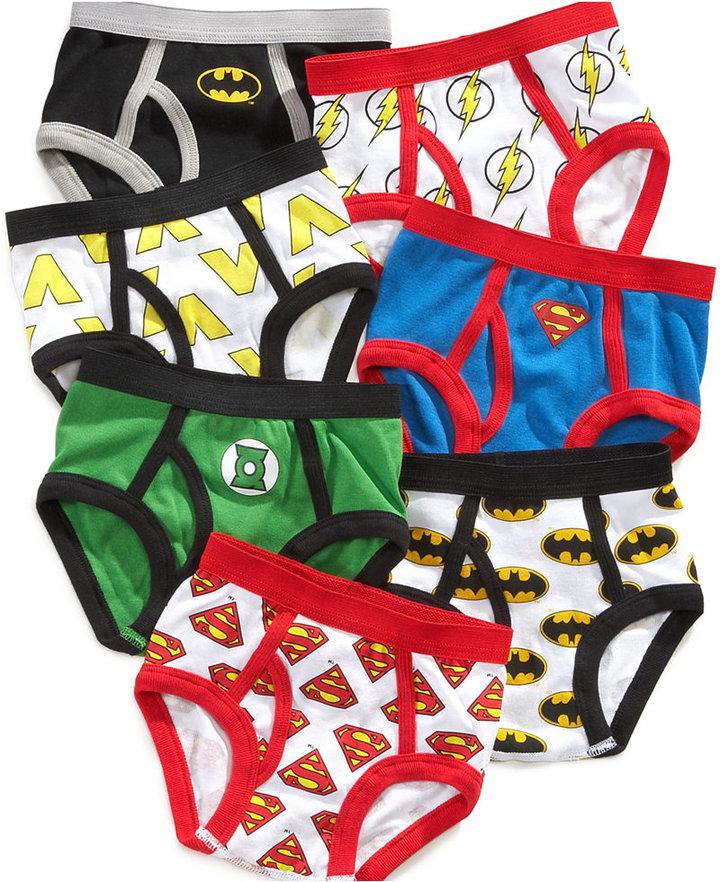 Justice League Toddler Boys' 7-Pack Cotton Briefs