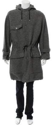 Saint Laurent Woven Utility Coat