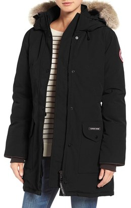 Women's Canada Goose Trillium Fusion Fit Hooded Parka With Genuine Coyote Fur Trim $895 thestylecure.com
