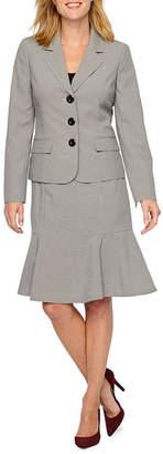 Le Suit Checked Skirt Suit