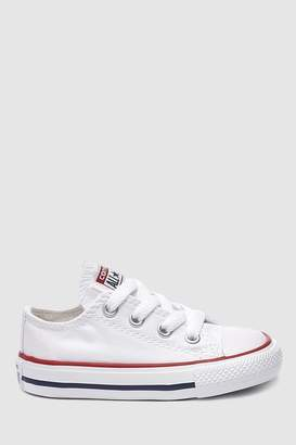 Details about Kids Converse All Star 2Vlace Trainers Cherry Red Glitter White Kids