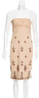 Valentino Embellished Wool-Blend Dress w/ Tags
