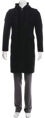 Dries Van Noten Hooded Wool Overcoat