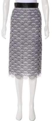 Malandrino Silk Knee-Length Petal Skirt w/ Tags
