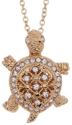 Nadri Crystal Pave Turtle Pendant Necklace