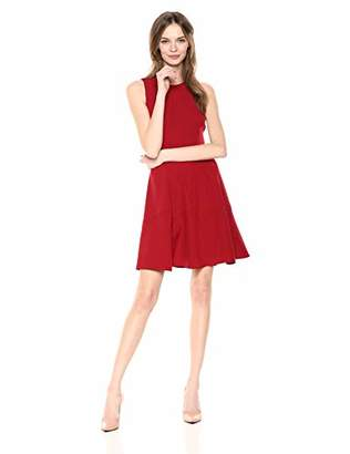 Anne Klein Women's Sleeveless Crepe FIT and Flare Dress