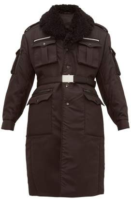 Prada Single Breasted Patch Pocket Nylon Coat - Mens - Black