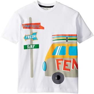 Fendi Short Sleeve Logo Surf Van Graphic T-Shirt