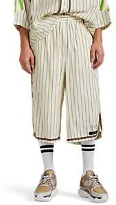 Facetasm Men's Pinstriped Wool Shorts - White