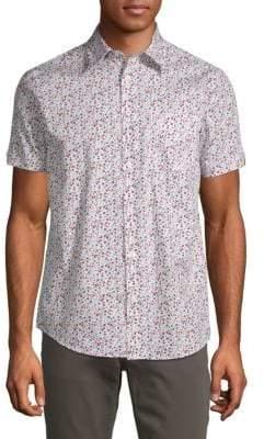 Ben Sherman Cotton Micro Floral Shirt