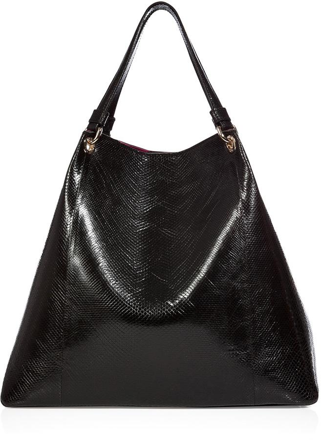 Zagliani Black/Fuchsia Python-Neoprene Bag