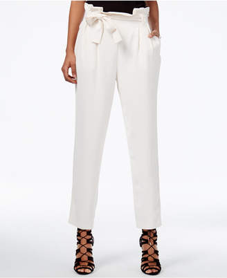 RACHEL Rachel Roy Paper Bag Tapered Trousers, Only at Macy's $99 thestylecure.com